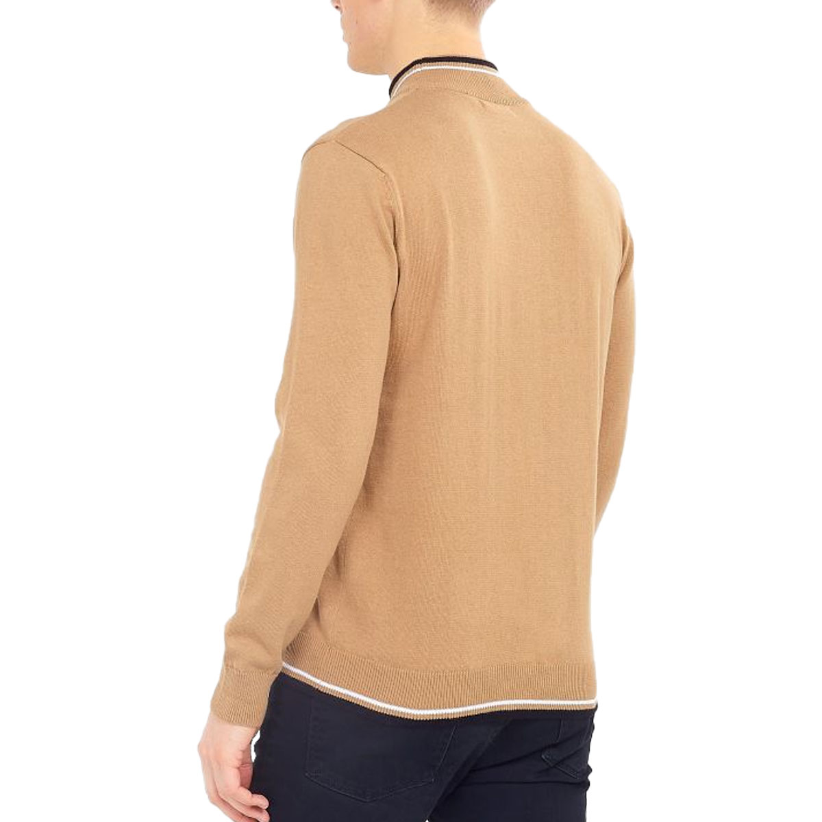 Brave-Soul-Mens-Turtle-Neck-Jumper-Contrast-Tipped-Hallis thumbnail 25