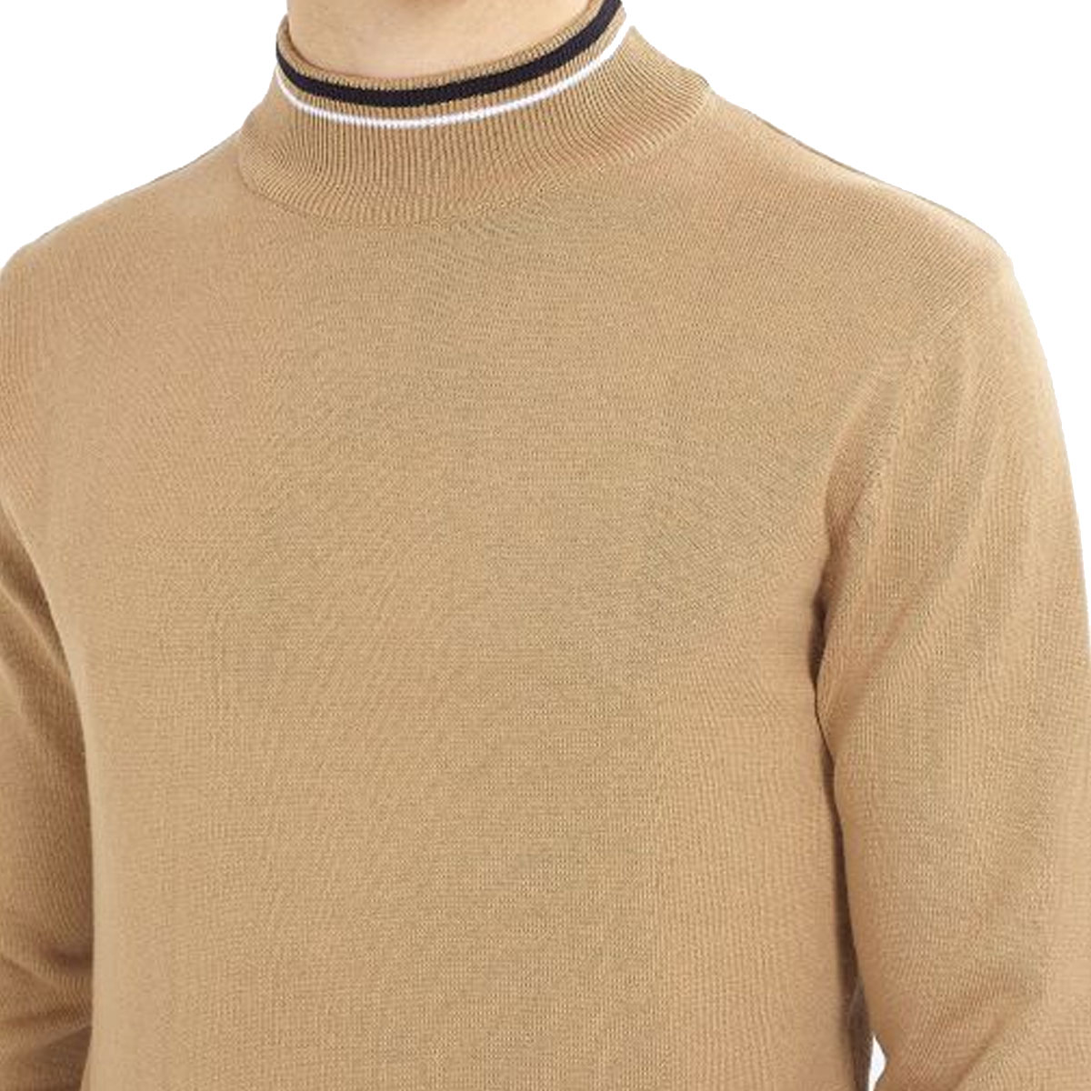 Brave-Soul-Mens-Turtle-Neck-Jumper-Contrast-Tipped-Hallis thumbnail 26