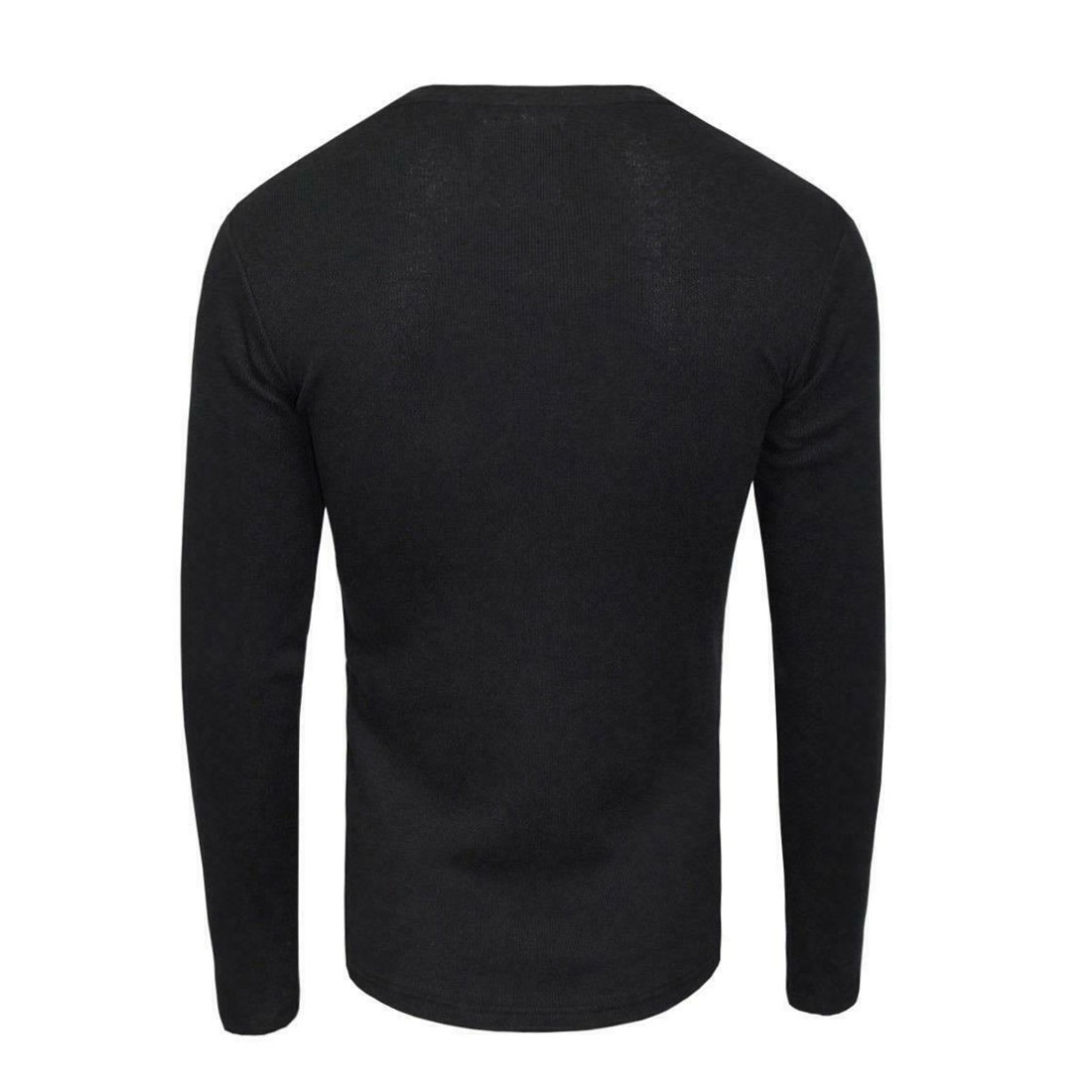 Brave-Soul-Casual-Grandad-Long-Sleeve-Top-Plain-T-Shirt thumbnail 6
