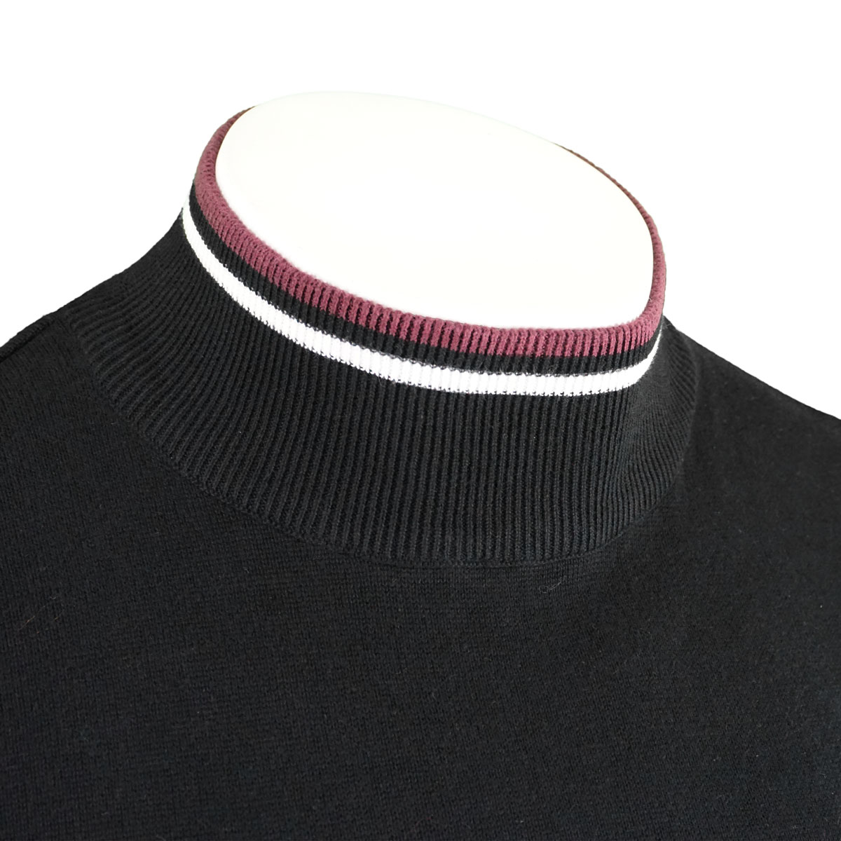 Brave-Soul-Mens-Turtle-Neck-Jumper-Contrast-Tipped-Hallis thumbnail 22