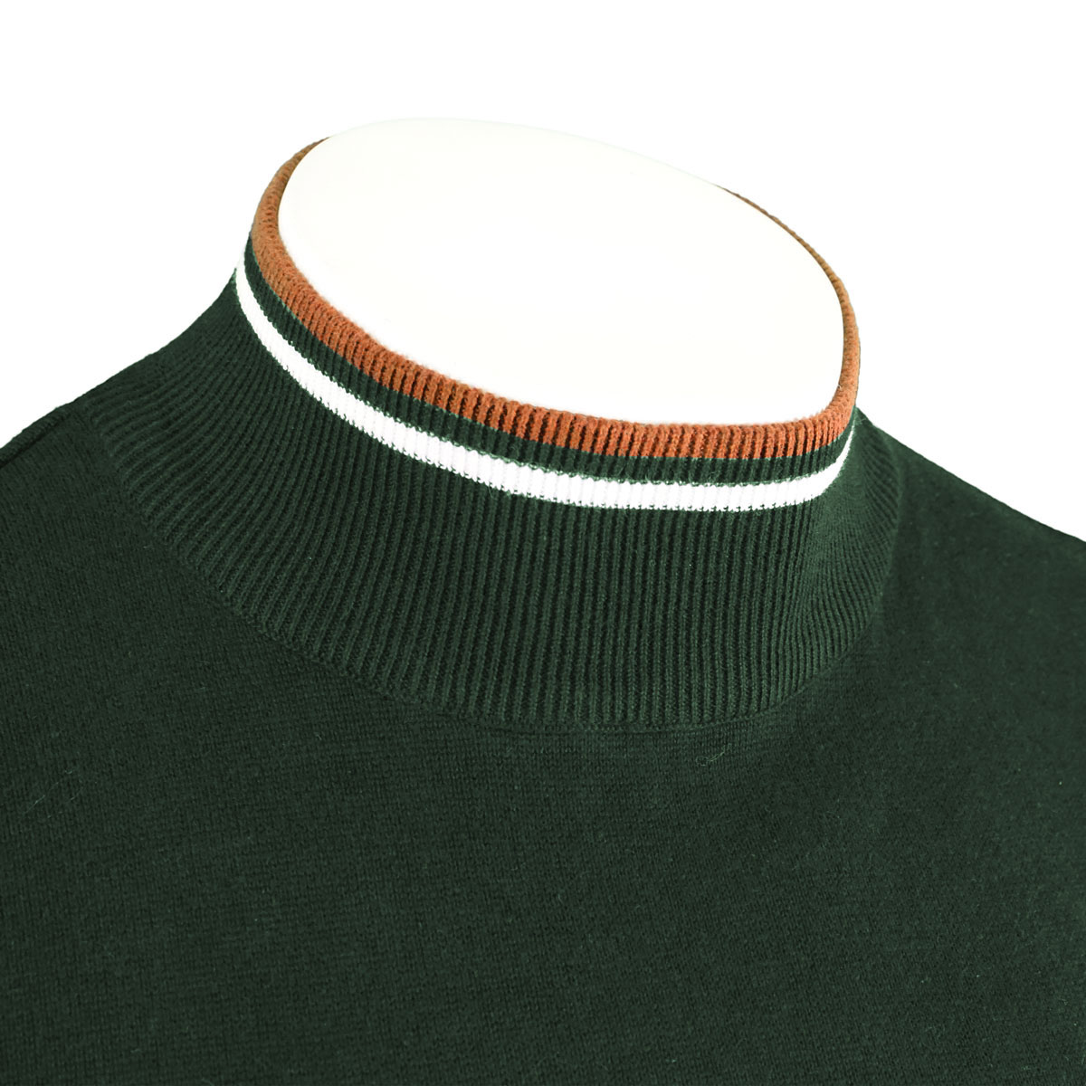 Brave-Soul-Mens-Turtle-Neck-Jumper-Contrast-Tipped-Hallis thumbnail 16