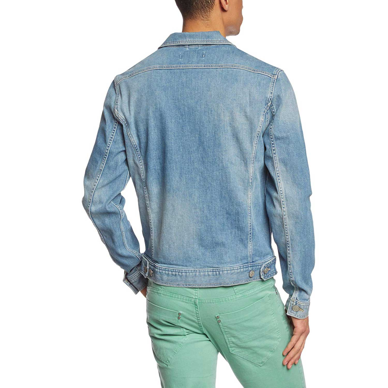 Jack and Jones Men/'s Jean Jjvc Long Sleeve Jacket Medium Denim Blue L .