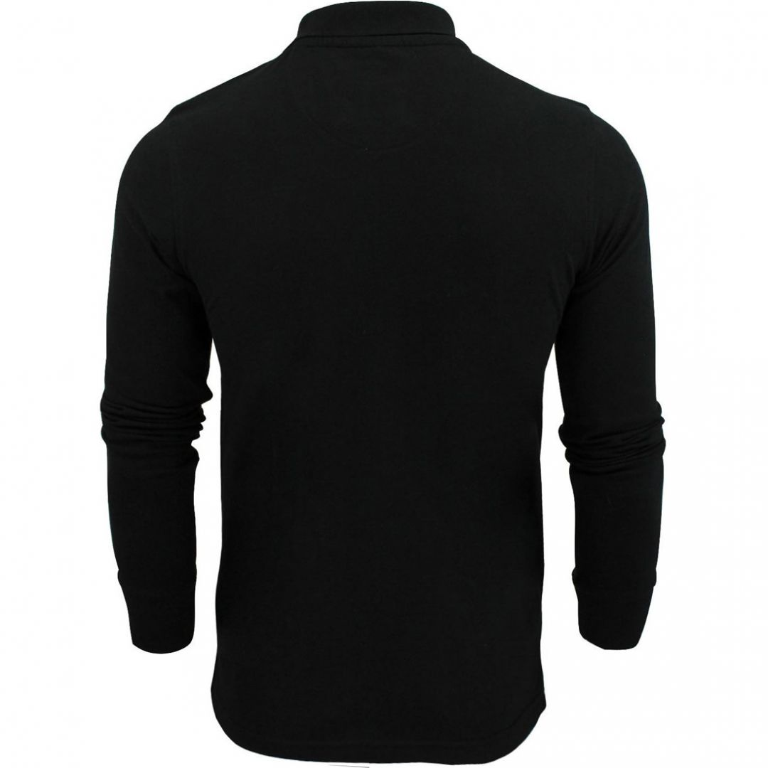 Brave-Soul-Lincoln-Mens-Polo-T-Shirt-Long-Sleeve-Cotton-Pique-Casual-Top thumbnail 19