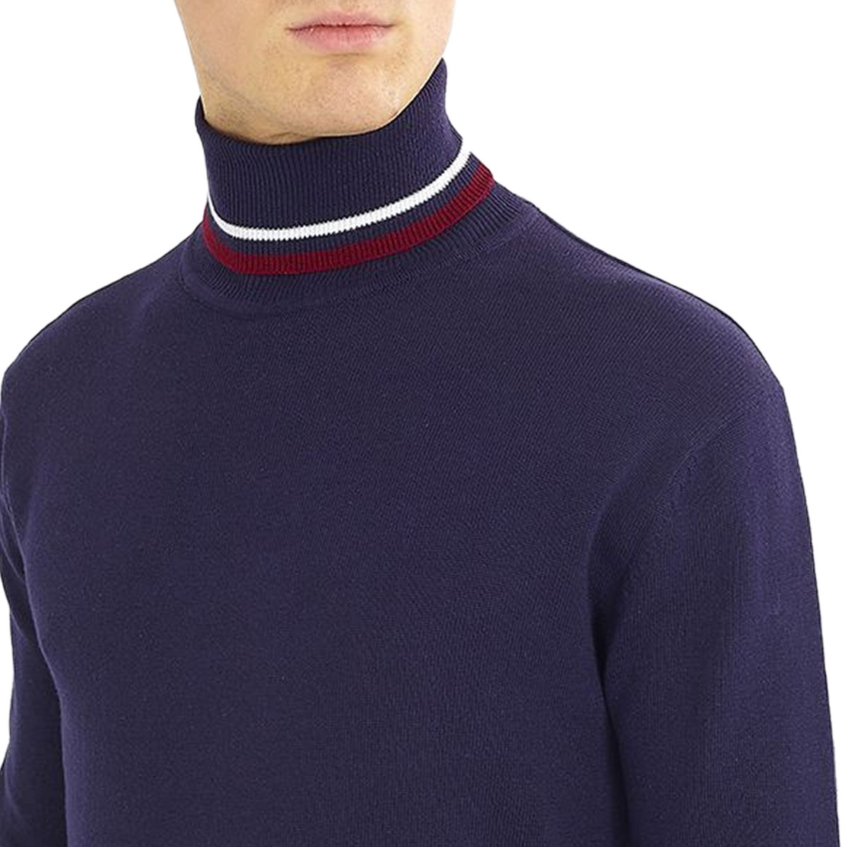 Brave-Soul-Mens-Turtle-Neck-Jumper-Contrast-Tipped-Hallis thumbnail 5