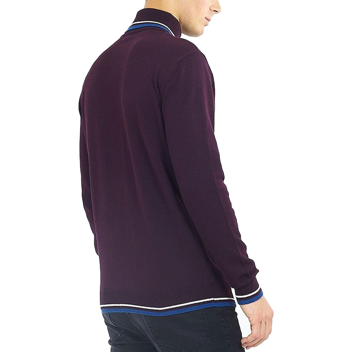 Brave-Soul-Mens-Turtle-Neck-Jumper-Contrast-Tipped-Hallis thumbnail 8