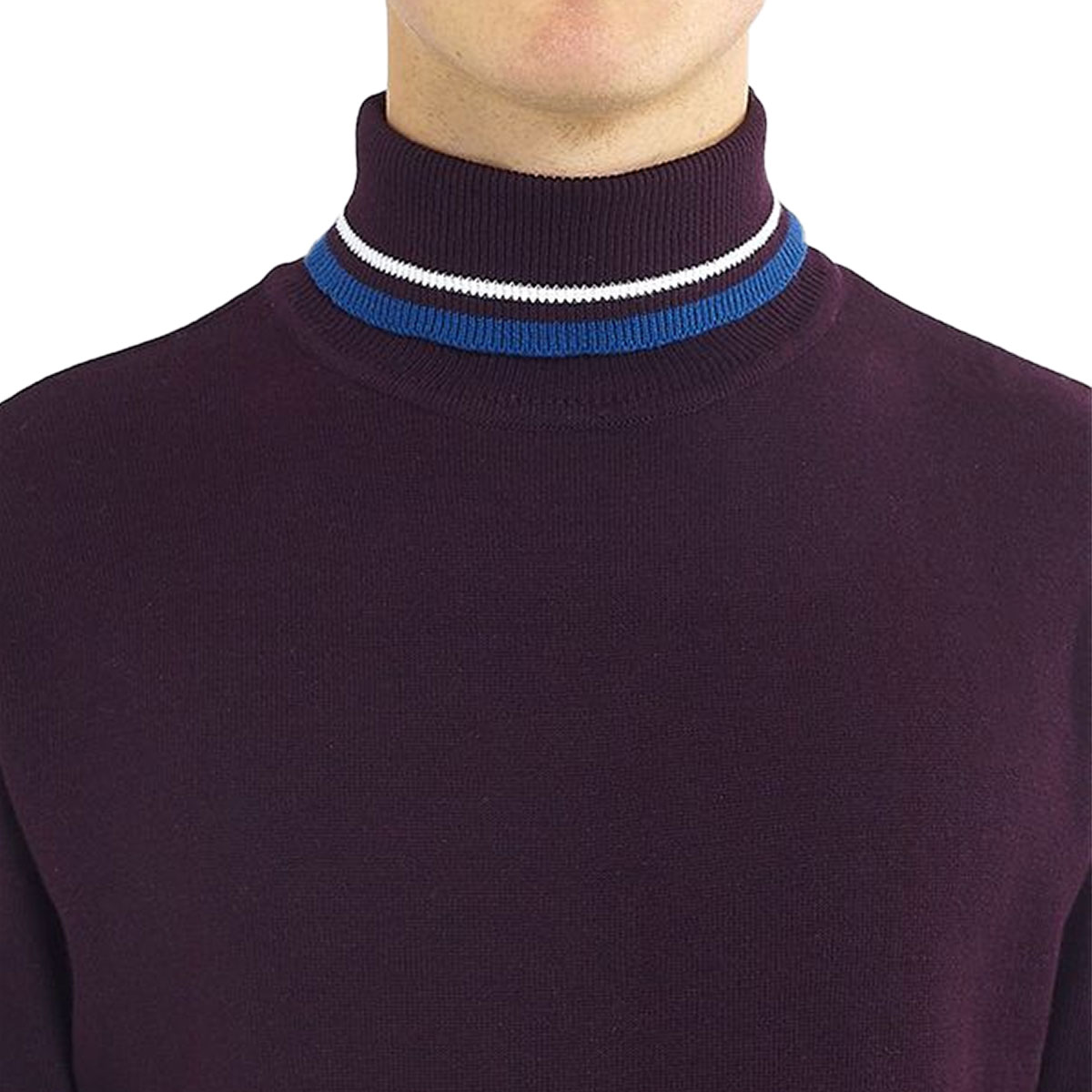 Brave-Soul-Mens-Turtle-Neck-Jumper-Contrast-Tipped-Hallis thumbnail 9