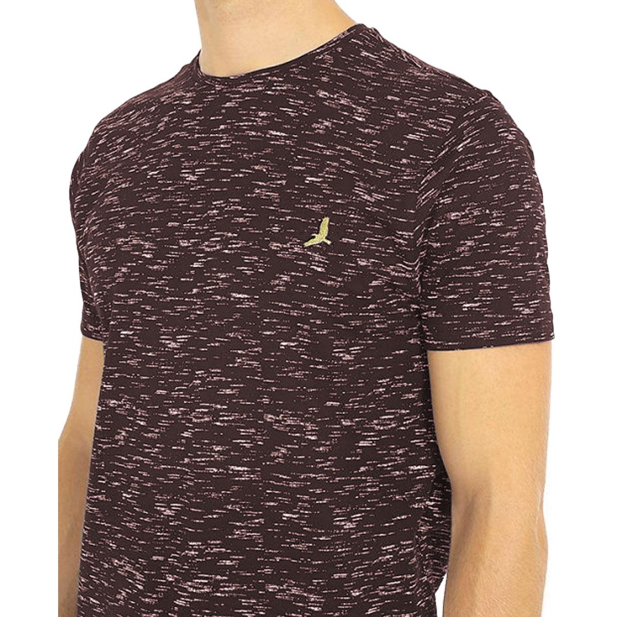 Brave-Soul-Mens-T-Shirt-Slub-Effect-Pattern-Design-Crew-Neck-Nigel thumbnail 13
