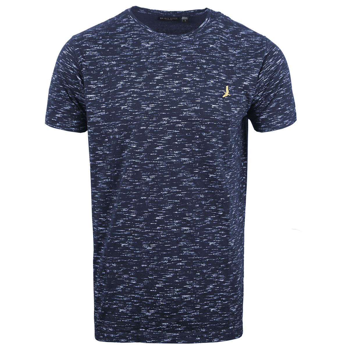 Brave-Soul-Mens-T-Shirt-Slub-Effect-Pattern-Design-Crew-Neck-Nigel thumbnail 2