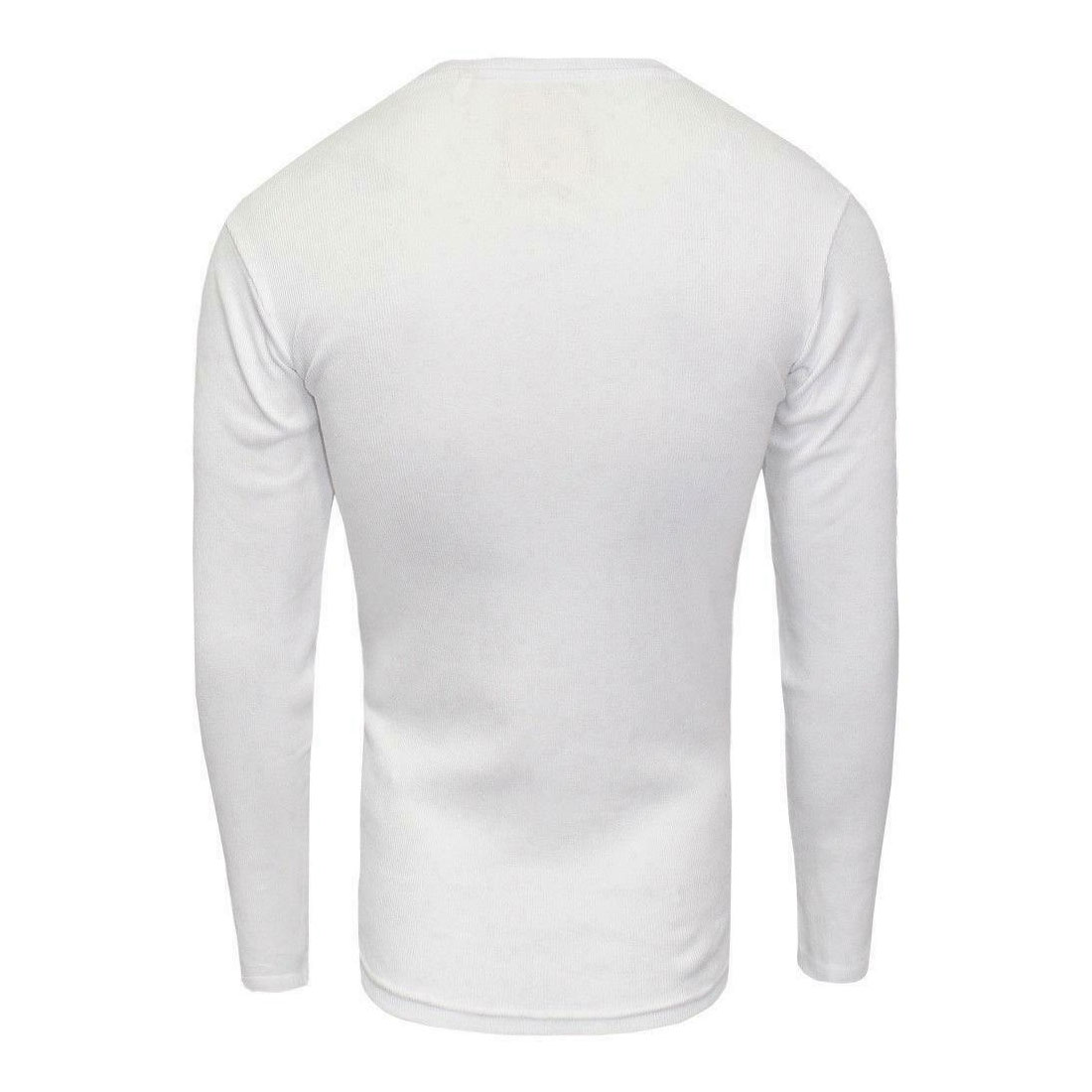 Brave-Soul-Casual-Grandad-Long-Sleeve-Top-Plain-T-Shirt thumbnail 3