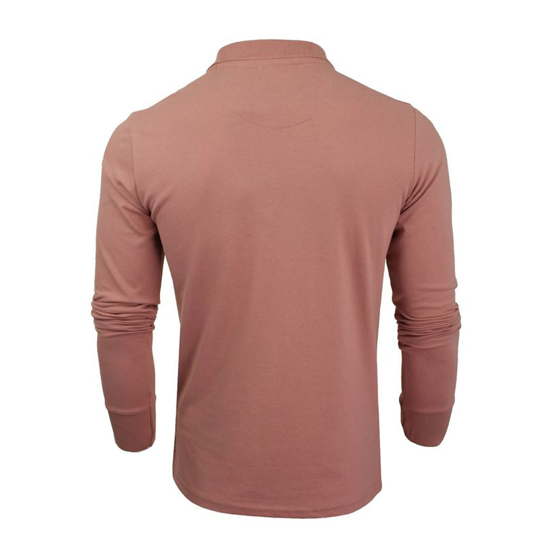 Brave-Soul-Lincoln-Mens-Polo-T-Shirt-Long-Sleeve-Cotton-Pique-Casual-Top thumbnail 4